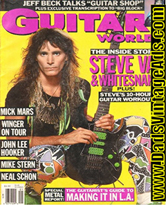 Guitar Player December 1992 Steve Vai