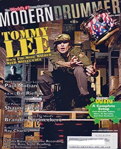 Modern Drummer April 2005 Tommy Lee