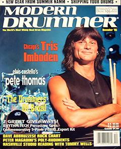 Modern Drummer December 1995 Tris Imboden
