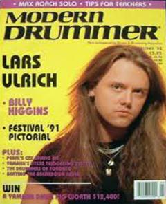 Modern Drummer February 1992 Lars Ulrich