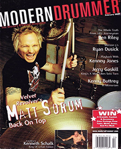 Modern Drummer February 2005 Matt Sorum