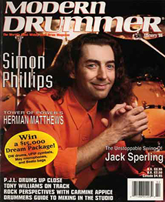 Modern Drummer February 1996 Simon Phillips
