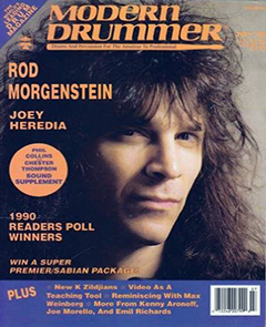 Modern Drummer July 1990 Rod Morgenstein