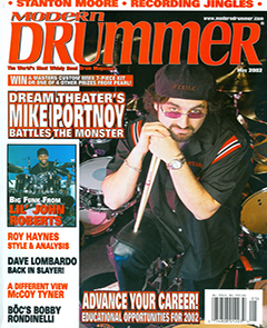 Modern Drummer May 2002 Mike Portnoy